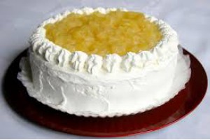 Torta diet - Abacaxi com chantilly